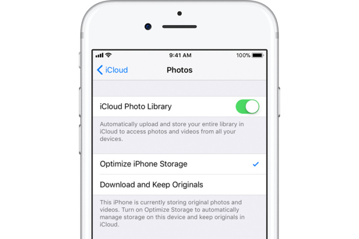 How Optimized iPhone Storage works with iCloud Photo Library